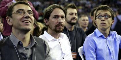 Juan Carlos Monedero, Pablo Iglesias e Iñigo Errejón.