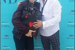David de Castro con Bimba Bosé Pret a portals fashion weekend