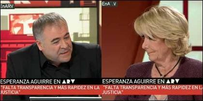 Esperanza Aguirre en 'Al Rojo Vivo'.