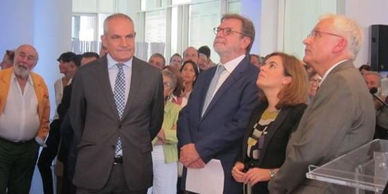 Cebrián y Soraya, en la presentación de ElPais.cat
