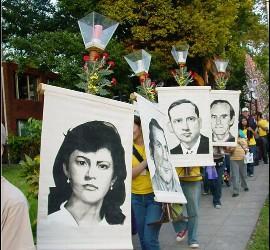 Recuerdo de los mártires de la UCA