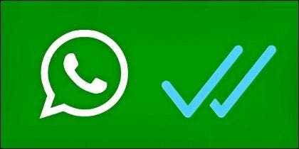 El doble check azul de WhatsApp.
