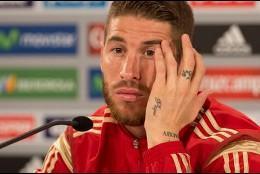 Sergio Ramos con la selección española.