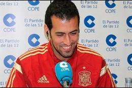 Sergio Busquets en 'El partido de las 12' en la cadena COPE.