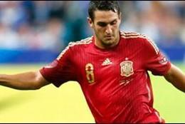 Koke con la selección española.