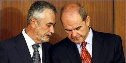 José Antonio Griñán y Manuel Chaves.