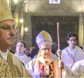 Celso Morga, junto al Nuncio Fratini