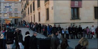 Acto reivindicativo en el Palacio del Infantado.