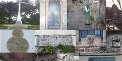 Símbolos franquistas.