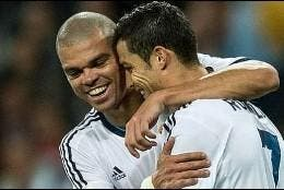 Cristiano Ronaldo y Pepe.