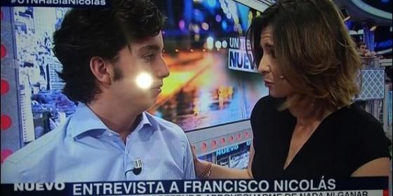 El Pequeño Nicolás con Sandra Barneda.