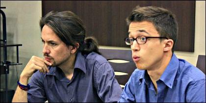 Pablo Iglesias con Iñigo Errejón.