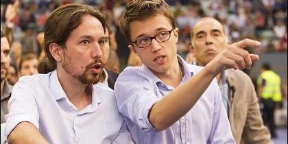 Pablo Iglesias con Íñigo Errejón.