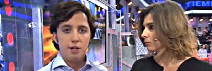 El 'Pequeño' Nicolás con Sandra Barneda en 'Un Tiempo Nuevo' de Telecinco.