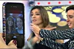 El selfie que Mariló se hizo con el Pequeño Nicolas, junto a Sandra Barneda.