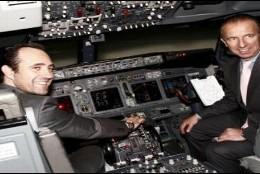 Bauzá y el exconseller Delgado en pleno vuelo