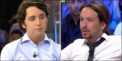 El Pequeño Nicolás y Pablo Iglesias.