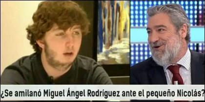 El Pequeño Nicolás y Miguel Ángel Rodríguez.
