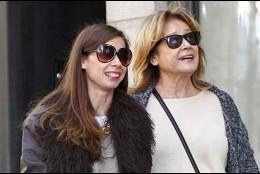 Mila Ximénez de compras con su hija