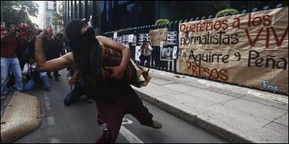 Protesta por estudiantes desaparecidos.