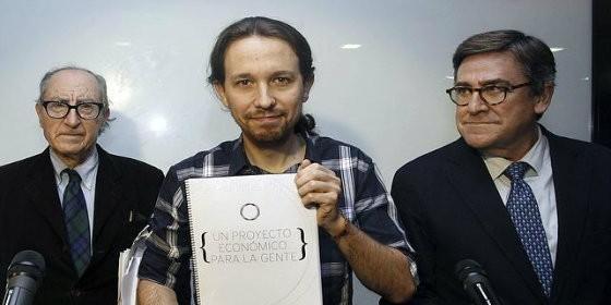 Pablo Iglesias, Juan Torres y Vincenç Navarro