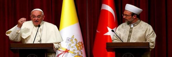 El Papa, en la Dinayet de Ankara