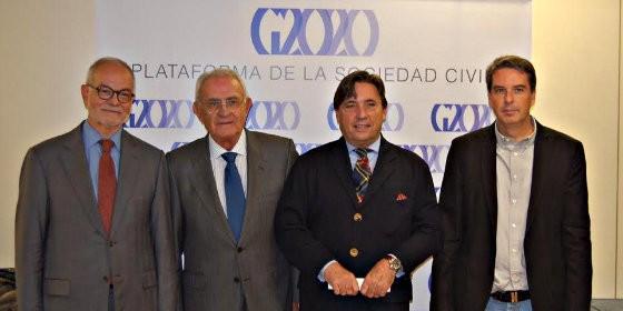 Javier Nadal, Salvador Sánchez Terán, Joaquín Zulategui y Rafael Mira.