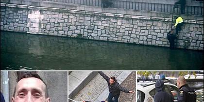La Policía llegó a la zona de la pelea entre huinchas del Atletico de Madrid y el Depor cuando todo acababa.
