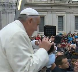 Papa en la audiencia