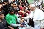 Francisco, con los pobres de Brasil