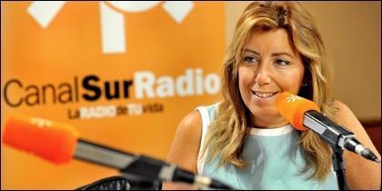 Susana Díaz en Canal Sur Radio.