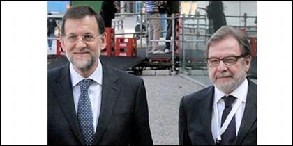 Rajoy y Cebrián.