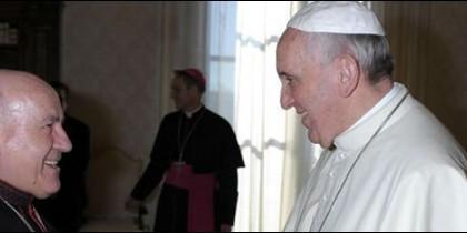 Vicente Jiménez Zamora, con el Papa