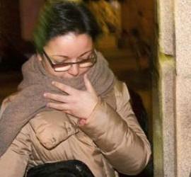 Marta Paz, entrando en los Juzgados