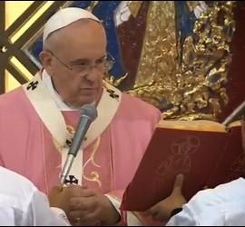 El Papa, en la misa de esta tarde