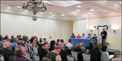 El Consejo Político Regional de Izquierda Unida Extremadura, ayer en Mérida