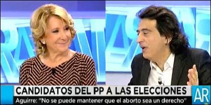Esperanza Aguirre y Arcadi Espada.