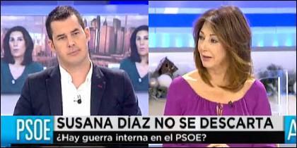 Juan Segovia y Ana Rosa Quintana.
