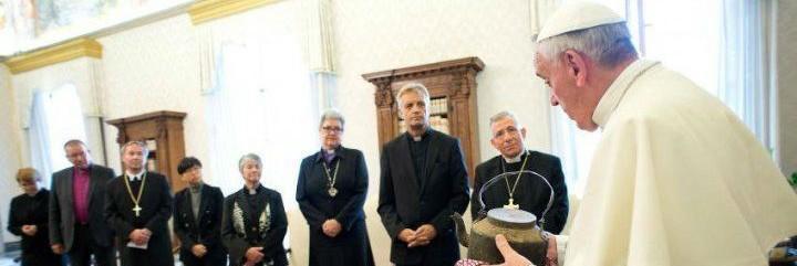 El Papa, con los luteranos alemanes