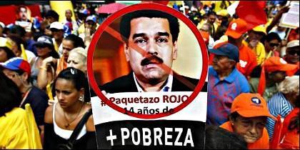 Manifestación contra Maduro.