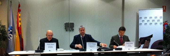 Carlos Osoro, José María Fidalgo y Rafael Catalá