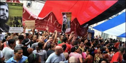Protestas en Cuba por los derechos humanos