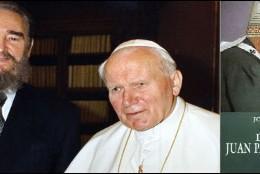 Fidel, Juan Pablo II y la portada del libro de Bergoglio
