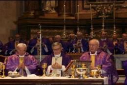 Toma de posesión de César Franco (centro) como obispo de Segovia