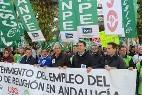 Manifestación de profesores de Religión en Andalucía