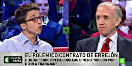 Iñigo Errejon y Eduardo Inda.