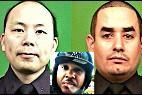 Los policías Rafael Ramos y Wenjian Liu. En el centro, el asesino Ismaaiyl Brinsley.