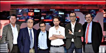 Rojo, Palomo, Martín, Iglesias, Herrero y Papell, en TVE.