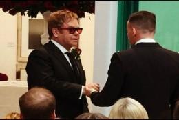 Elton John y el cineasta David Furnish
