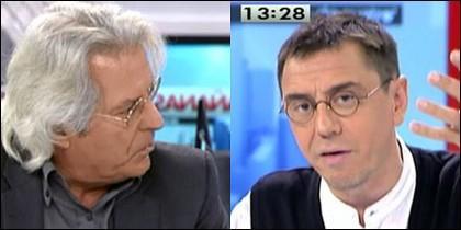 Javier Nart y Juan Carlos Monedero.